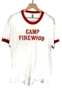Wet Hot American Summer Camp Firewood T Shirt XL